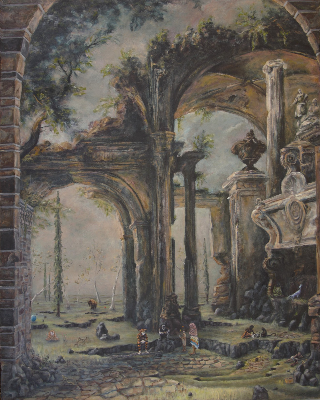 Canaletto's Allegorical Tomb of Lord Somers - print only, 30 x 24