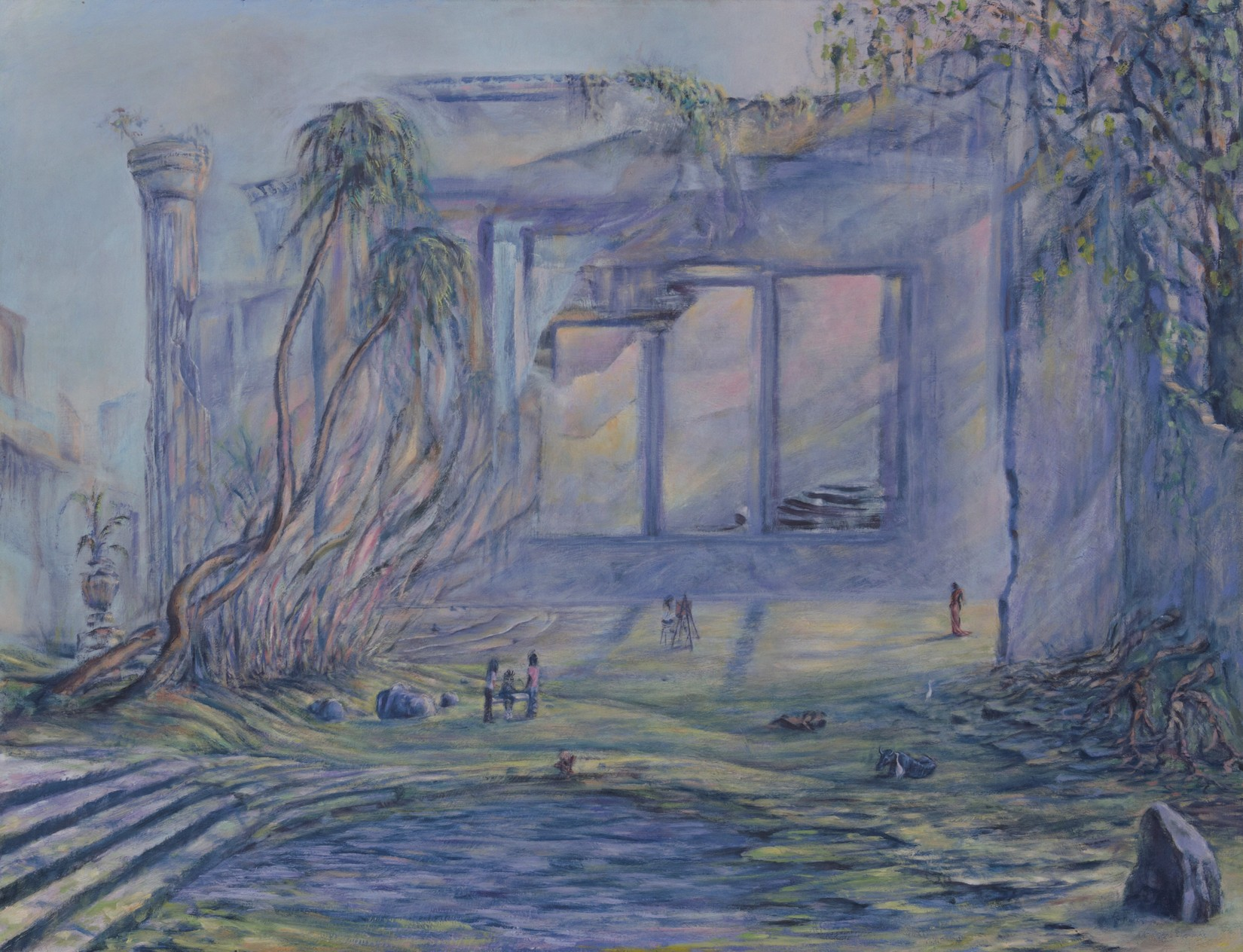 Painting Anecia - oil on masonite, 22x24
