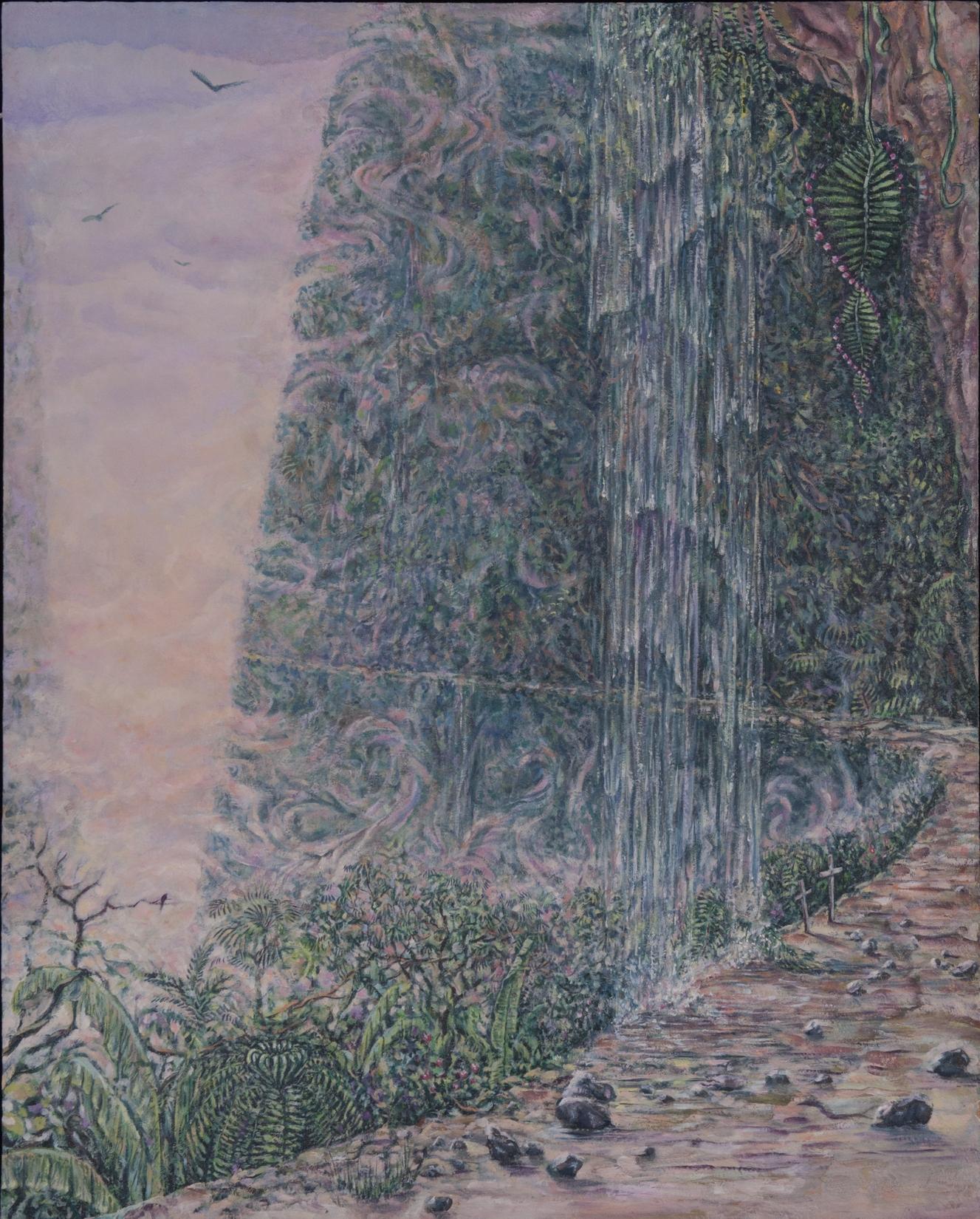 Road to Coroico - oil on masonite, 20 x 16