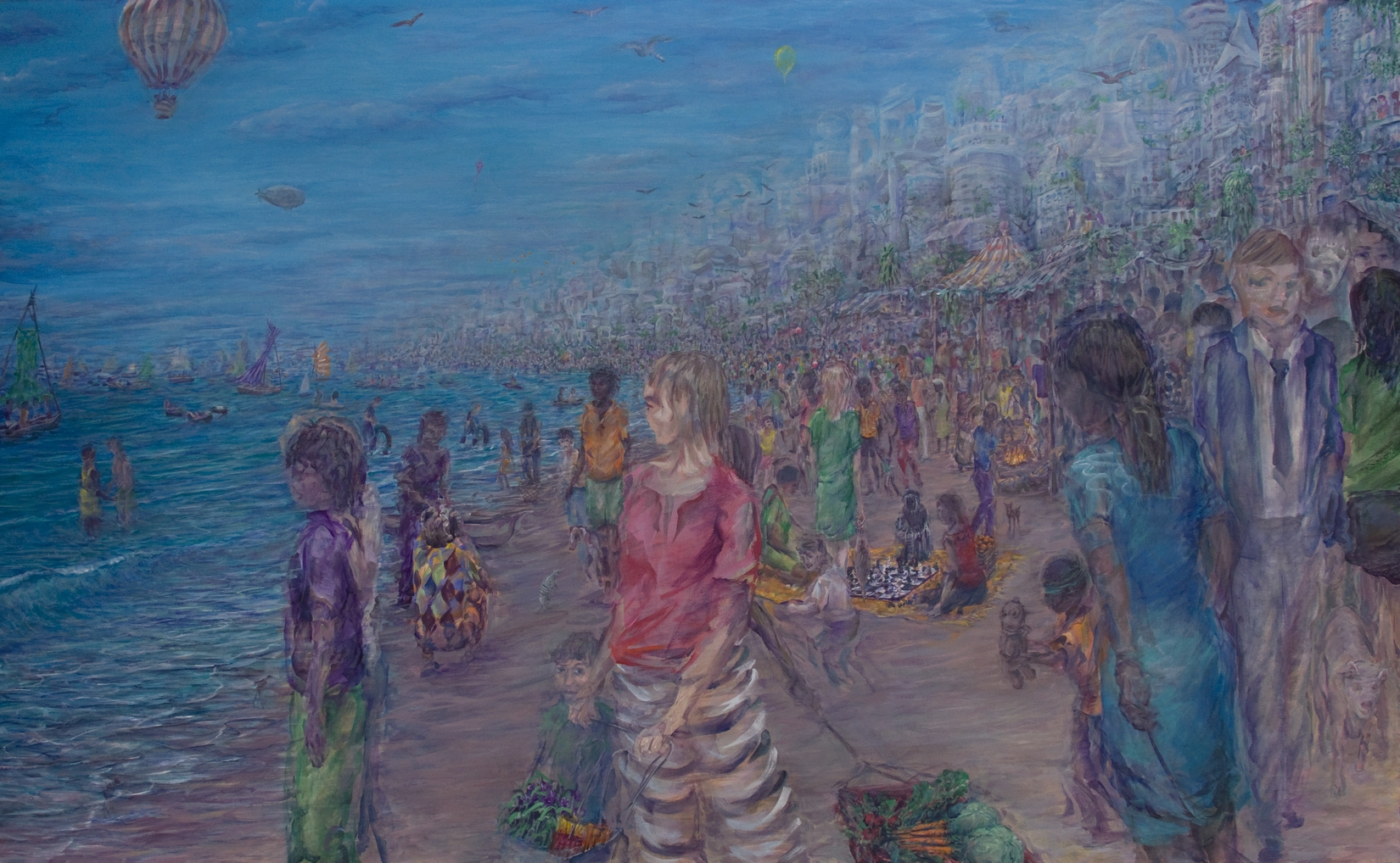The Low Tide Dwellers - acrylic on canvas,