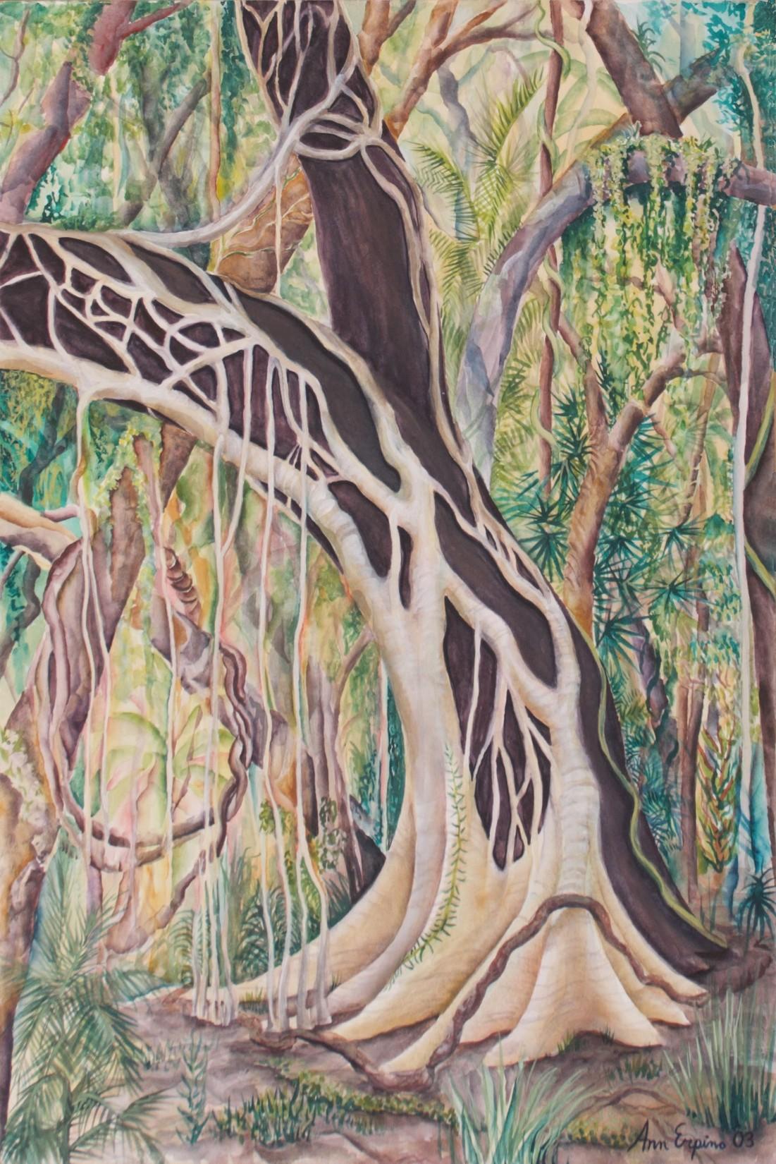 Trees - print on canvas