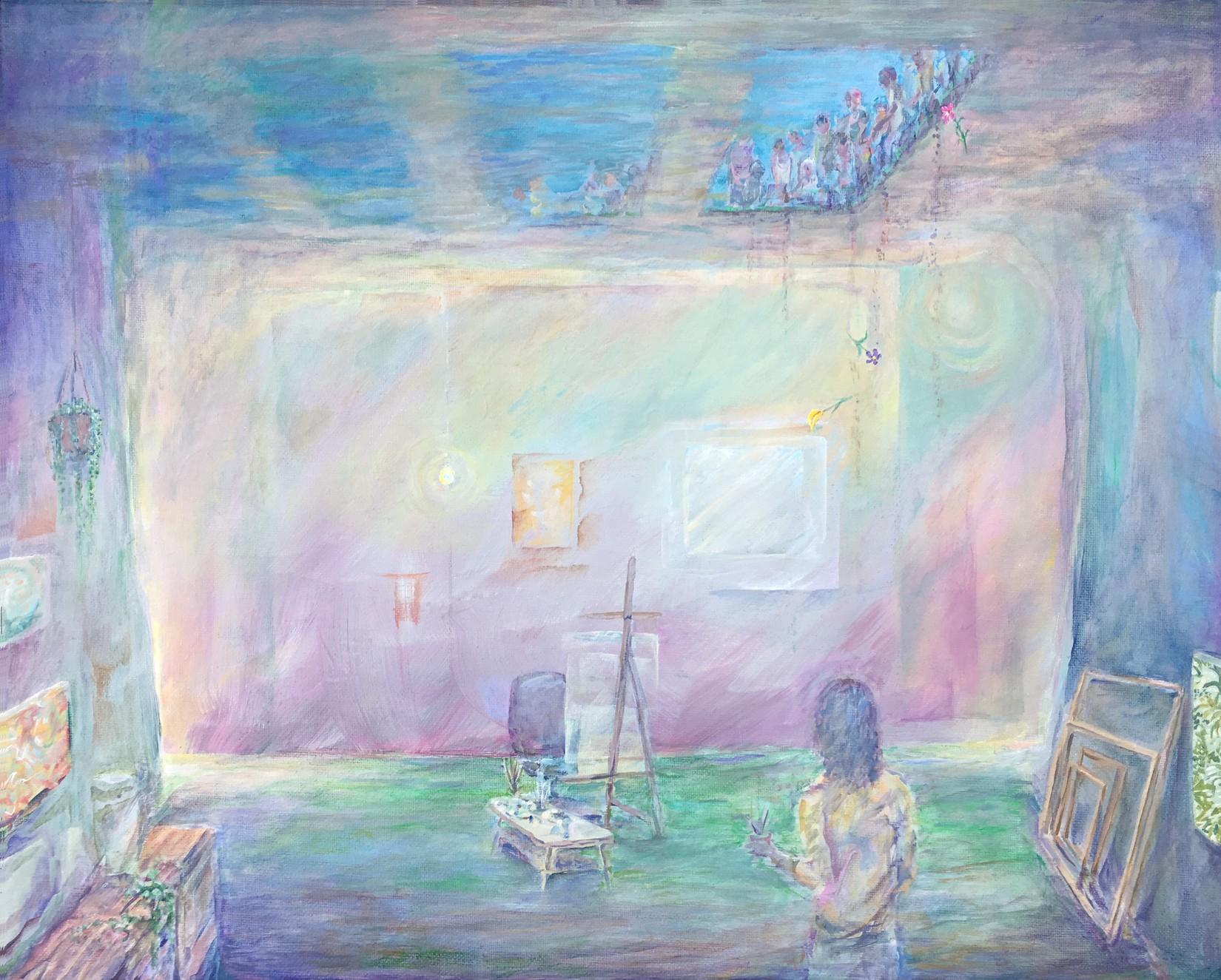 Studio Burial - acrylic on canvas, 16 x 20